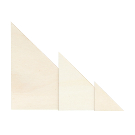 Sperrholz Zuschnitte - rechtwinklige Dreiecke - Größenauswahl - Pappel 3mm