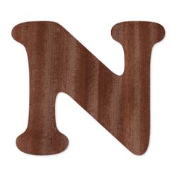 Holz-Furnier Buchstaben - Cooper - Schriftzug aus dunklem 0,6mm Echtholzfurnier - Größenauswahl – Bild 15