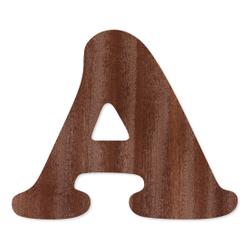 Holz-Furnier Buchstaben - Cooper - Schriftzug aus dunklem 0,6mm Echtholzfurnier - Größenauswahl – Bild 2