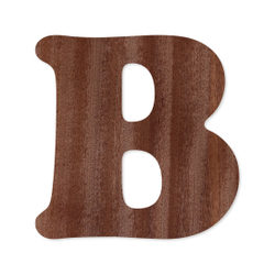 Holz-Furnier Buchstaben - Cooper - Schriftzug aus dunklem 0,6mm Echtholzfurnier - Größenauswahl – Bild 3