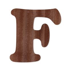 Holz-Furnier Buchstaben - Cooper - Schriftzug aus dunklem 0,6mm Echtholzfurnier - Größenauswahl – Bild 7