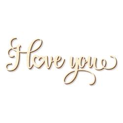 "Schriftzug ""I Love You"" in Sperrholz natur in verschiedenen Längen"