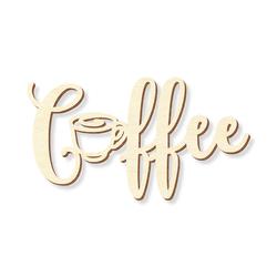 """Schriftzug """"Coffee"""" in Sperrholz natur in verschiedenen Längen und Schriftarten – Bild 3"""