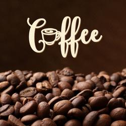 """Schriftzug """"Coffee"""" in Sperrholz natur in verschiedenen Längen und Schriftarten – Bild 4"""