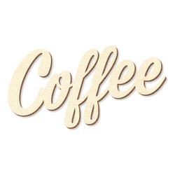 """Schriftzug """"Coffee"""" in Sperrholz natur in verschiedenen Längen und Schriftarten – Bild 1"""