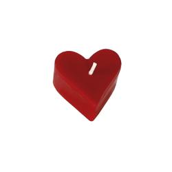 Formkerze in Herzform, rotes Herz als Kerze in groß oder klein – Bild 2