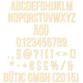 Sperrholz Buchstaben - Bebas - Wunschtext/Schriftzug mit Größenauswahl - Pappel 3mm