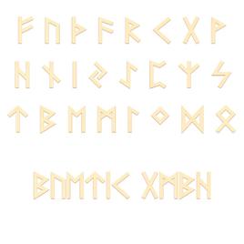 Sperrholz Runen - Ältere Futhark - Wunschtext/Schriftzug mit Größenauswahl - Pappel 3mm