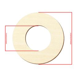 Sperrholz Zuschnitte - Loch/Ring-Scheiben, Holzscheiben, individueller Zuschnitt - Pappel 3mm – Bild 4