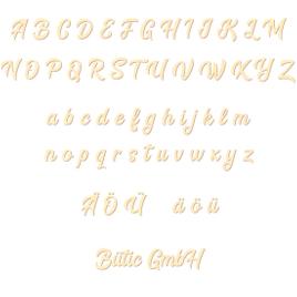 Sperrholz Buchstaben - BHeart - Wunschtext/Schriftzug mit Größenauswahl - Pappel 3mm