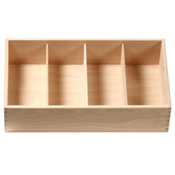 Bütic Besteckkasten für Haushalt und Gastro aus Buchen Holz - 3fach, 4fach, 5fach – Bild 5