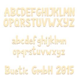 Sperrholz Buchstaben - Anatawa - Wunschtext/Schriftzug mit Größenauswahl - Pappel 3mm