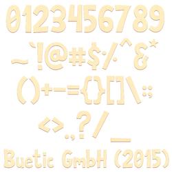 Sperrholz Zahlen - Anatawa - inkl. Satz- und Sonderzeichen Größenauswahl - Pappel 3mm