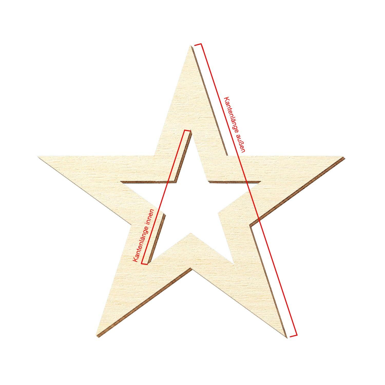 Details Zu Sperrholz Zuschnitte Stern Mit Innenausschnitt Holz Individueller Zuschnitt