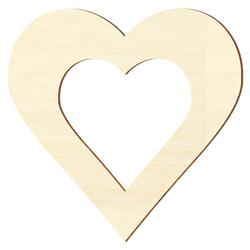 Sperrholz Zuschnitte - Herz mit individuellem Innenausschnitt - Pappel 3mm – Bild 1