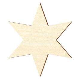 Sperrholz Zuschnitte - 6 armiger Stern, Holzstern - Größenauswahl - Pappel 3mm
