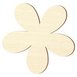 Sperrholz Zuschnitte - Plumeria Blume/Blüte - Größenauswahl - Pappel 3mm