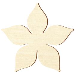 Sperrholz Zuschnitte - Enzian Blume/Blüte - Größenauswahl - Pappel 3mm 001