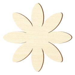 Sperrholz Zuschnitte - Margerite Blume/Blüte - Größenauswahl - Pappel 3mm