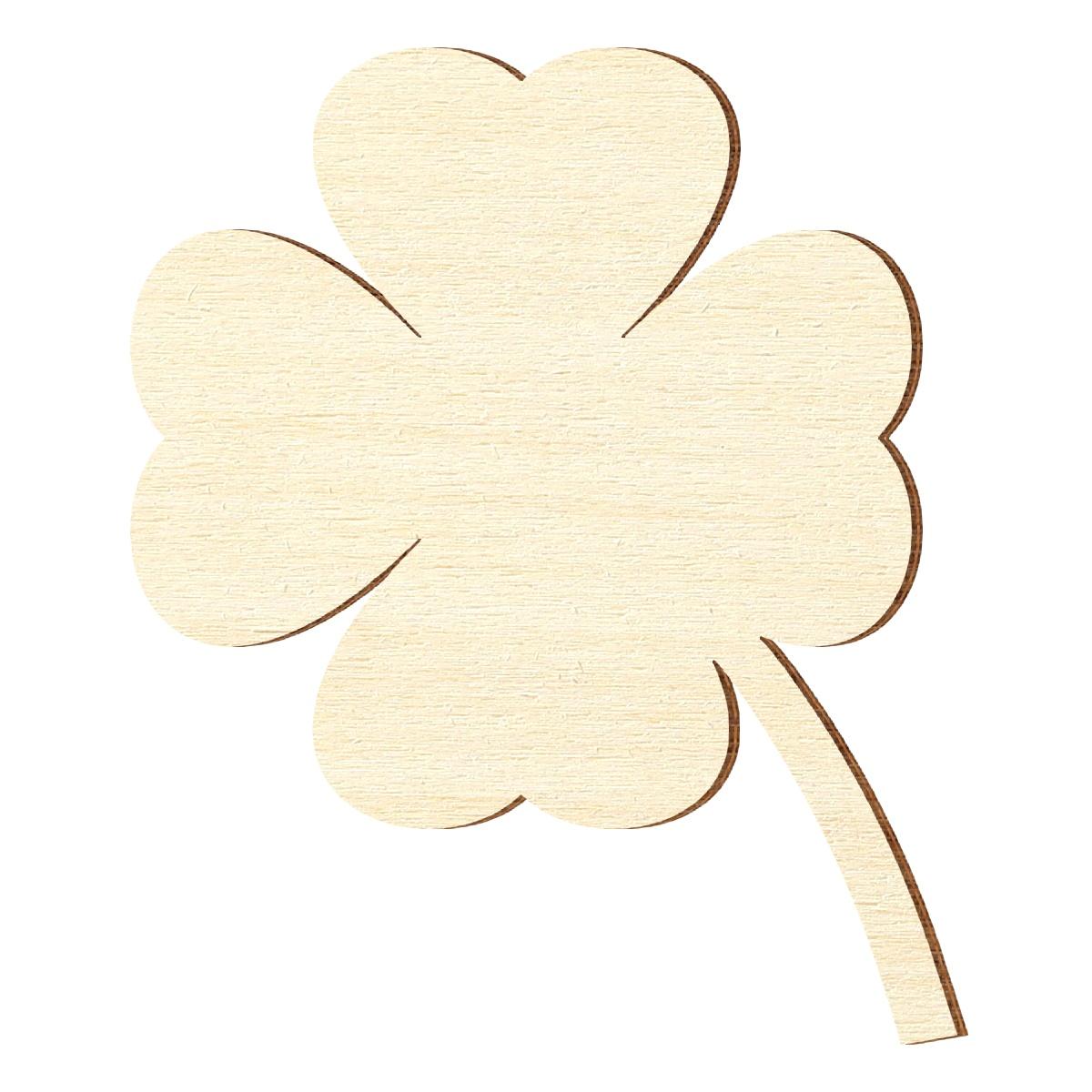 Sperrholz Zuschnitte Kleeblatt Glücksbringer Größenauswahl