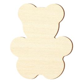 Sperrholz Zuschnitte - Teddy, Teddybär - Größenauswahl - Pappel 3mm