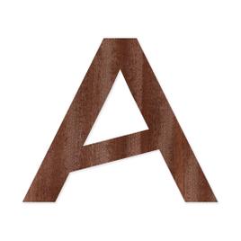 Holz-Furnier Buchstaben/Zahlen - Knox - Schriftzug aus dunklem 0,6mm Echtholzfurnier - Größenauswahl