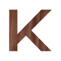 Holz-Furnier Buchstaben/Zahlen - Knox - Schriftzug aus dunklem 0,6mm Echtholzfurnier - Größenauswahl – Bild 11