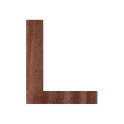 Holz-Furnier Buchstaben/Zahlen - Knox - Schriftzug aus dunklem 0,6mm Echtholzfurnier - Größenauswahl – Bild 12