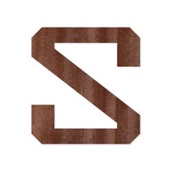 Holz-Furnier Buchstaben/Zahlen - Knox - Schriftzug aus dunklem 0,6mm Echtholzfurnier - Größenauswahl – Bild 19