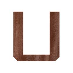 Holz-Furnier Buchstaben/Zahlen - Knox - Schriftzug aus dunklem 0,6mm Echtholzfurnier - Größenauswahl – Bild 21