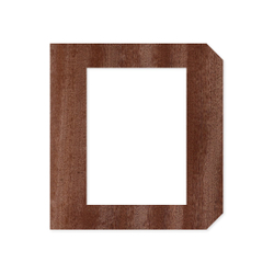 Holz-Furnier Buchstaben/Zahlen - Knox - Schriftzug aus dunklem 0,6mm Echtholzfurnier - Größenauswahl – Bild 4