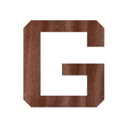 Holz-Furnier Buchstaben/Zahlen - Knox - Schriftzug aus dunklem 0,6mm Echtholzfurnier - Größenauswahl – Bild 7