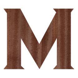 Holz-Furnier Buchstaben - Sea Garden - Schriftzug aus dunklem 0,6mm Echtholzfurnier - Größenauswahl – Bild 14