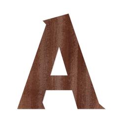 Holz-Furnier Buchstaben - Sea Garden - Schriftzug aus dunklem 0,6mm Echtholzfurnier - Größenauswahl – Bild 2