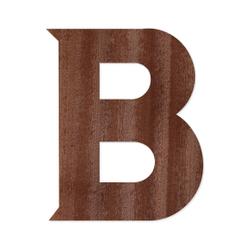 Holz-Furnier Buchstaben - Sea Garden - Schriftzug aus dunklem 0,6mm Echtholzfurnier - Größenauswahl – Bild 3