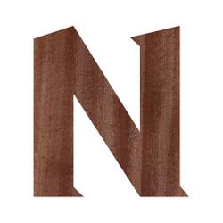 Holz-Furnier Buchstaben - Sea Garden - Schriftzug aus dunklem 0,6mm Echtholzfurnier - Größenauswahl – Bild 15