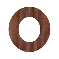 Holz-Furnier Buchstaben - Sea Garden - Schriftzug aus dunklem 0,6mm Echtholzfurnier - Größenauswahl – Bild 16