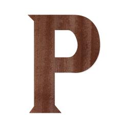 Holz-Furnier Buchstaben - Sea Garden - Schriftzug aus dunklem 0,6mm Echtholzfurnier - Größenauswahl – Bild 17