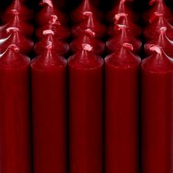 durchgefärbte Stabkerzen 100mm x Ø 22mm - hochgereinigte Kerzen mit rückstandsfreiem Abbrand – Bild 3