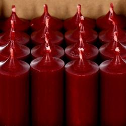 durchgefärbte Stabkerzen 250mm x Ø 28mm - hochgereinigte Kerzen mit rückstandsfreiem Abbrand – Bild 3