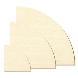 Sperrholz Zuschnitte - 1/4 Kreis - Größenauswahl - Pappel 3mm – Bild 2