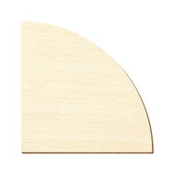 Sperrholz Zuschnitte - 1/4 Kreis - Größenauswahl - Pappel 3mm – Bild 1