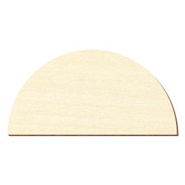 Sperrholz Zuschnitte - 1/2 Kreis, Halbkreise - Größenauswahl - Pappel 3mm