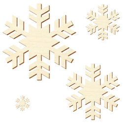 Sperrholz Zuschnitte - Schneeflocke, Kristall - Größenauswahl - Pappel 3mm – Bild 2