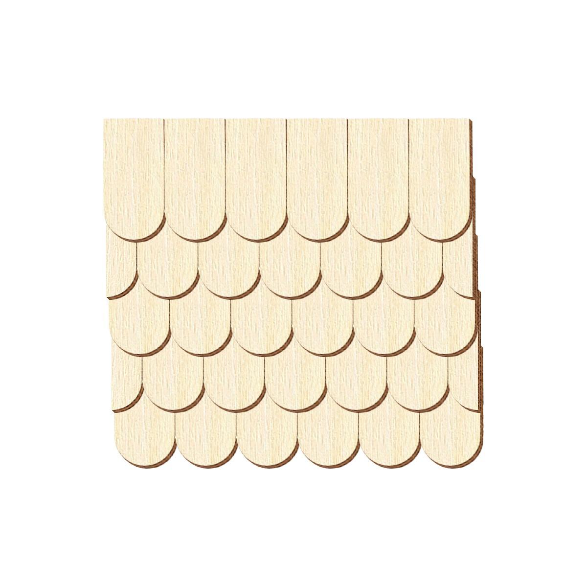 Schindelgr/ö/ße:40mm x 20mm Pack mit:100 St/ück Furnier Schindeln Holzschindeln Biberschwanz Kirsche