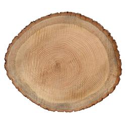 Rindenbrett Eiche rund - Baumscheibe geschliffen Holzbrett Rindenscheibe  – Bild 3