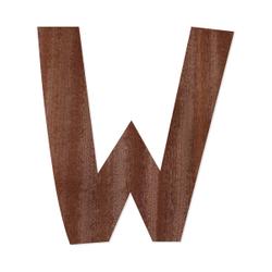 Holz-Furnier Buchstaben - Anatawa - Schriftzug aus dunklem 0,6mm Echtholzfurnier - Größenauswahl – Bild 24