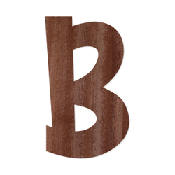 Holz-Furnier Buchstaben - Anatawa - Schriftzug aus dunklem 0,6mm Echtholzfurnier - Größenauswahl – Bild 3