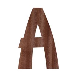 Holz-Furnier Buchstaben - Anatawa - Schriftzug aus dunklem 0,6mm Echtholzfurnier - Größenauswahl – Bild 2