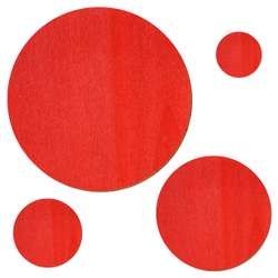 Sperrholz Zuschnitte Rot - Scheiben - Durchmesser auswählbar – Bild 1